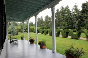 Views of the archway from the wrap-around porch