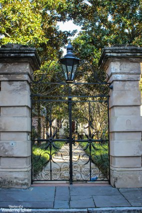 Charleston iron sword gate