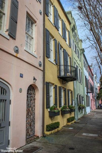 Rainbow Row Charleston