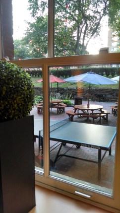 HI NYC Hostel patio