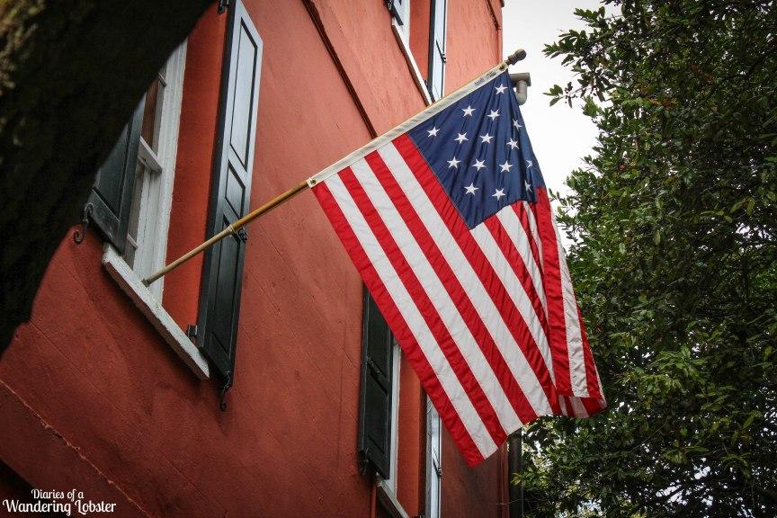 Charleston American flag