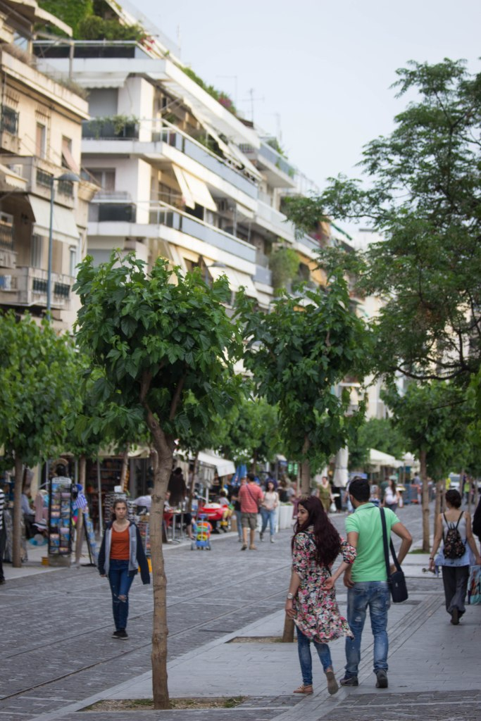 The streets near Athens Backpacker Hostel