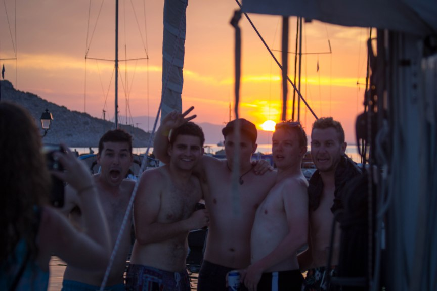 Perdika Greece sunsent