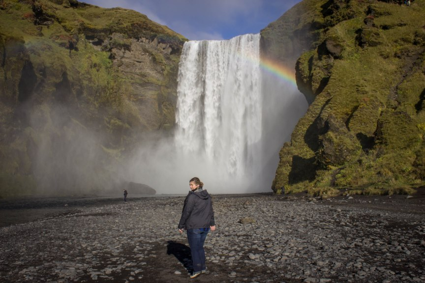 Skogafoss waterfall Iceland South coast and Jokulsarlon Lagoon