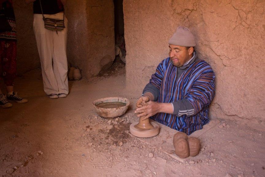 [img] pottery maker morocco travel tour