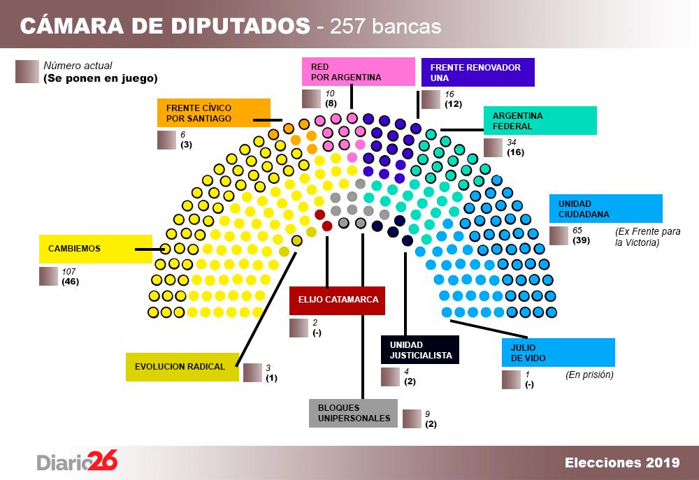 Elecciones 2019, renovación de Cámara de Diputados, política, Diario 26