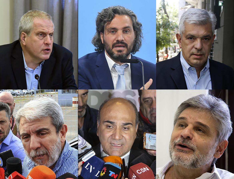 Santiago Cafiero, Julian Domínguez, Aníbal Fernández, Juan Manzur, Daniel Filmus y Jaime Perzyck, AGENCIA NA