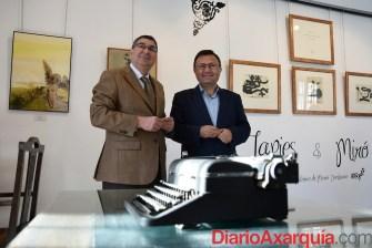 08022016 - Miguel Ángel Heredia y Antonio Moreno en visita Fundación María Zambrano_04