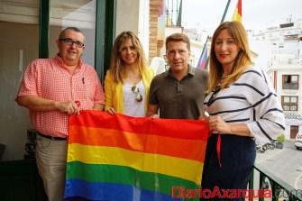 Bandera LGTBI - Ayto de Torrox -  28 junio