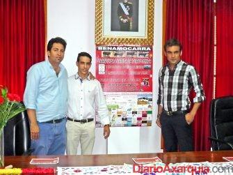 Abdeslam Lucena, José Antonio Lavado y el Arqueño en la  Presentación de la corrida de toros