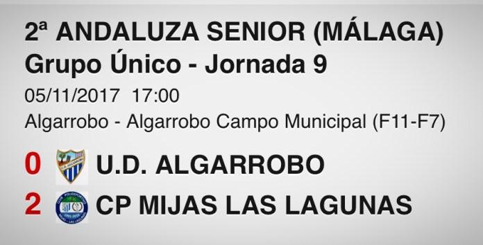 El Algarrobo sólo aguanta medio tiempo al Mijas Las Lagunas (0-2)