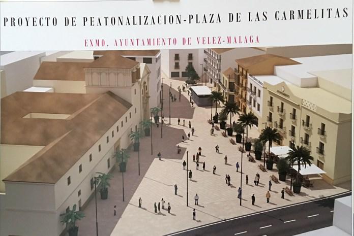 La Diputación financiará con 836.000 euros un proyecto de peatonalización de calles en Vélez-Málaga
