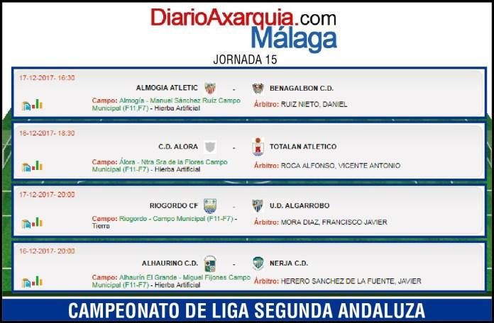 Riogordo y Algarrobo protagonizan el único derbi de la jornada en Segunda Andaluza