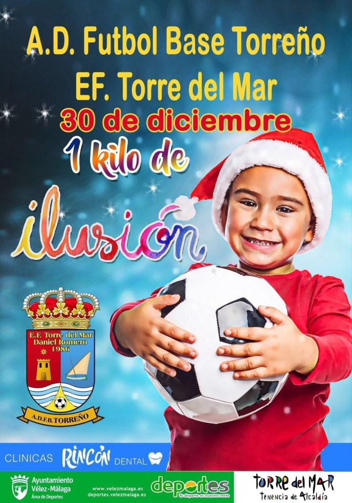 La Escuela de Fútbol de Torre del Mar celebra el IX Torneo 'kilo' de ilusión