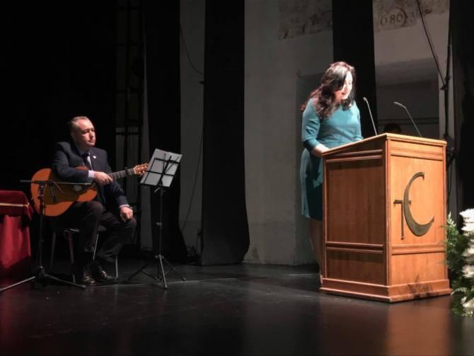 El autor del cartel, José Antonio Jiménez Muñoz, ha sido presentado por Dolores Vargas Jiménez.