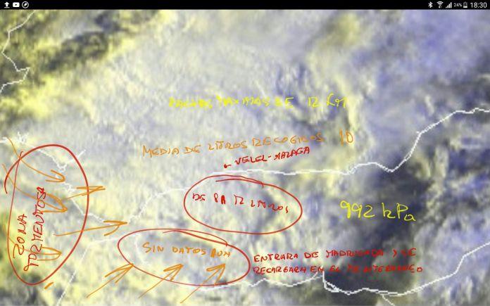 Datos de lluvias en el municipio de Vélez-Málaga