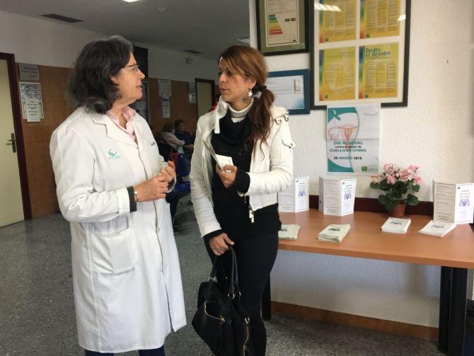 El Área Sanitaria Málaga-Axarquía se suma a la jornada de sensibilización del Día de la Prevención del Cáncer de Cuello de Útero