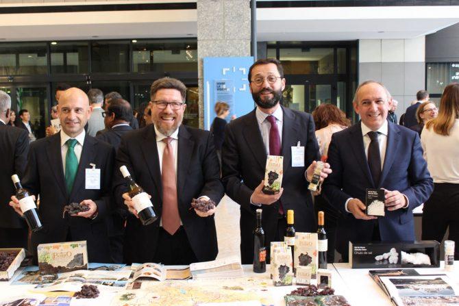 """Sánchez Haro considera la catalogación de la uva pasa como patrimonio mundial una """"garantía de biodiversidad y riqueza"""""""