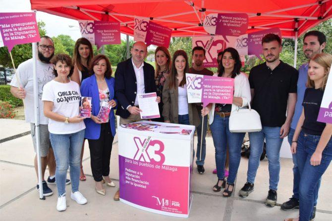 El PSOE inicia una campaña reivindicando que se triplique el presupuesto para igualdad en la Diputación