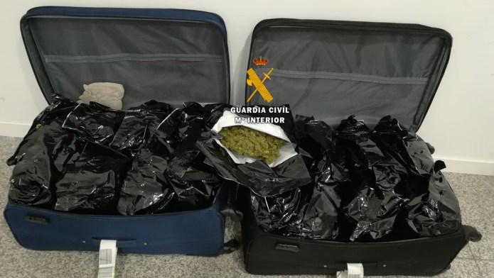 La Guardia Civil detiene a dos personas por delitos contra la salud pública en el Aeropuerto de Málaga