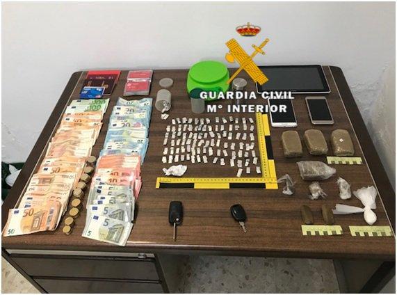 La Guardia Civil desarticula un punto de venta de droga en Alhaurín el Grande