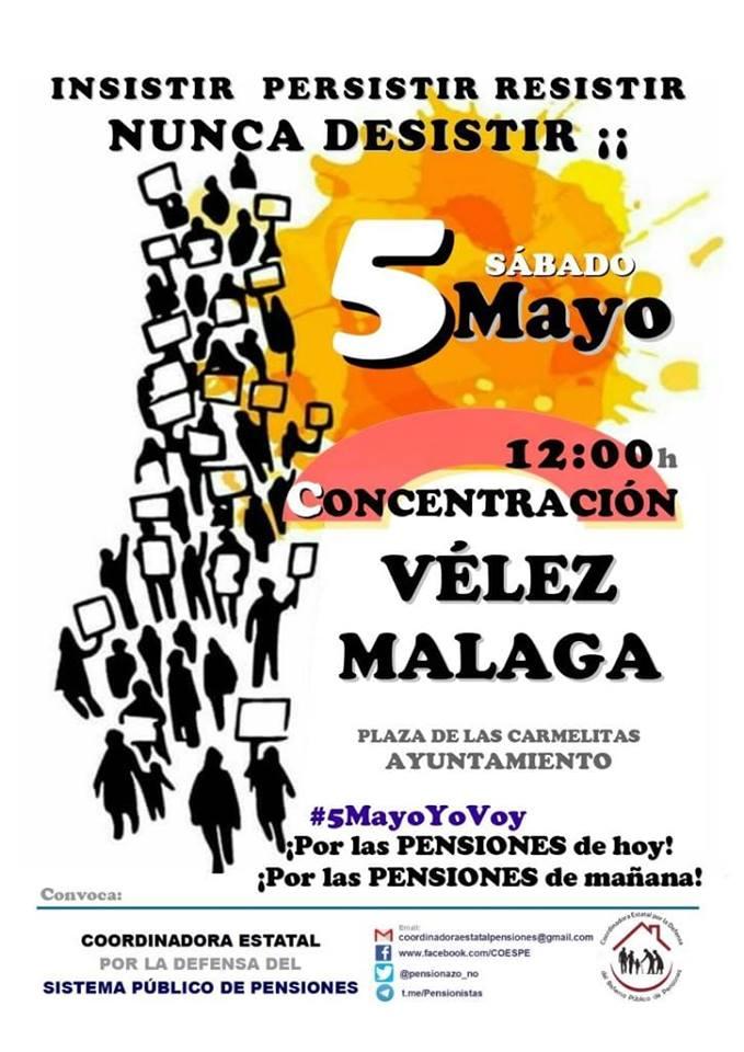 Concentración para exigir pensiones dignas en Vélez-Málaga