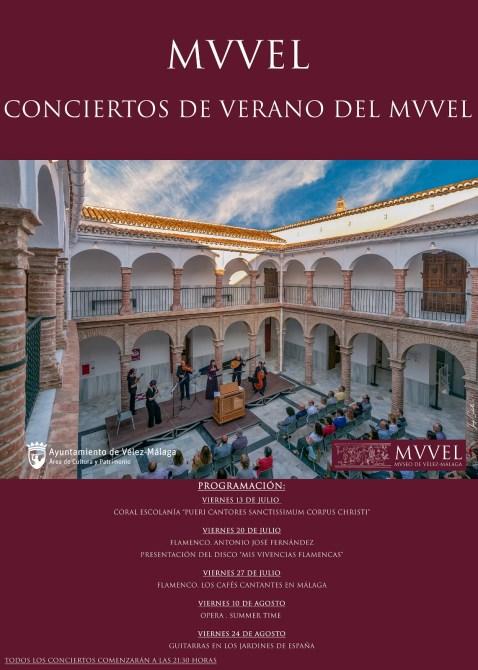 El Museo de Vélez-Málaga presenta un variado ciclo de conciertos gratuitos para este verano