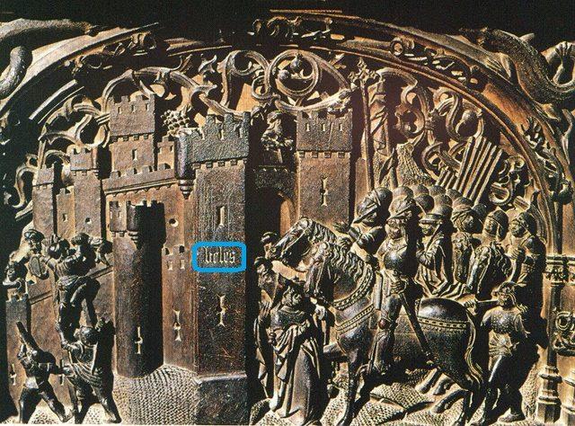 e trata de una reproducción de un grabado de la conquista de Vélez-Málaga que tiene en marcha.
