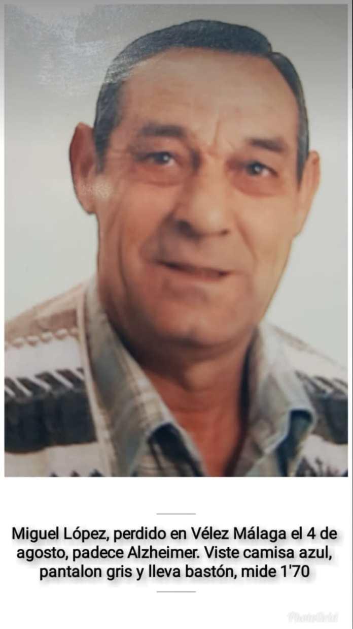Encuentran sano y salvo al hombre desaparecido en Vélez-Màlaga