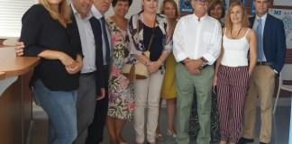 El delegado del Gobierno y la delegada de Igualdad han visitado el centro residencial 'Pinares', de la Asociación Autismo Málaga.