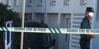 La Guardia Civil en la zona de El a Morche dónde ha tenido lugar el trágico suceso.