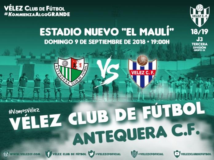 Antequera CF-Vélez CF, protagonistas en la tercera jornada de la Tercera División