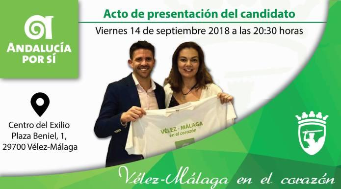 Andalucía Por Sí presentará a su candidato José Pino en el Centro del Exilio de Vélez-Málaga
