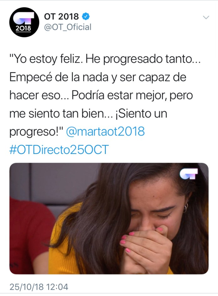 """Marta Sánchez Sango: """"Yo estoy feliz. He progresado tanto…"""""""