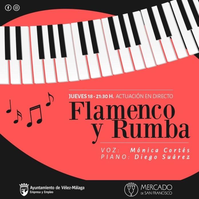 Rumbas y flamenco en el Mercado San Francisco de Vélez-Màlaga