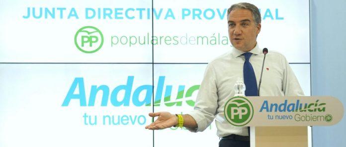 """El presidente del PP de Málaga, Elías Bendodo, dice que """"el Partido Popular está preparado y con la maquinaria engrasada para afrontar las que sin duda serán unas elecciones autonómicas históricas"""", advirtiendo de que """"serán las elecciones del cambio tras 40 años de un régimen socialista acabado""""."""