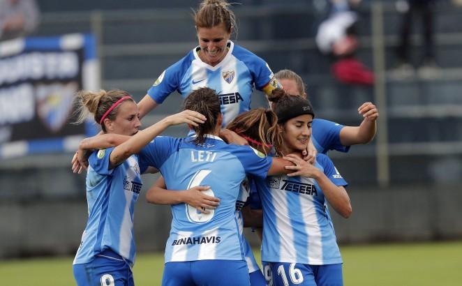 Los goles de Dominika y María Ruizle dan la primera victoria de la temporada al Málaga Femenino