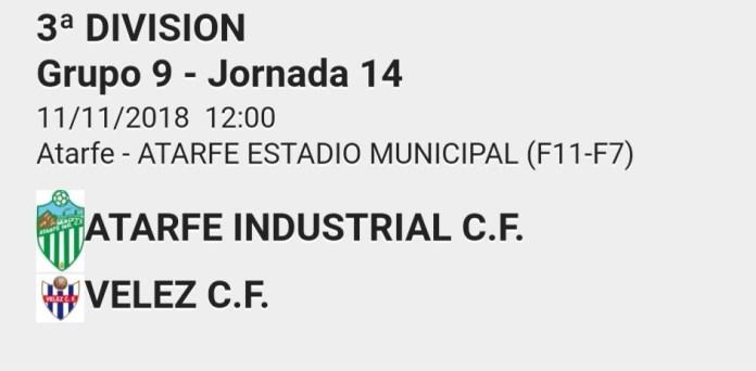 El Vélez visita Atarfe en su mejor momento (Dom.12:00h.)