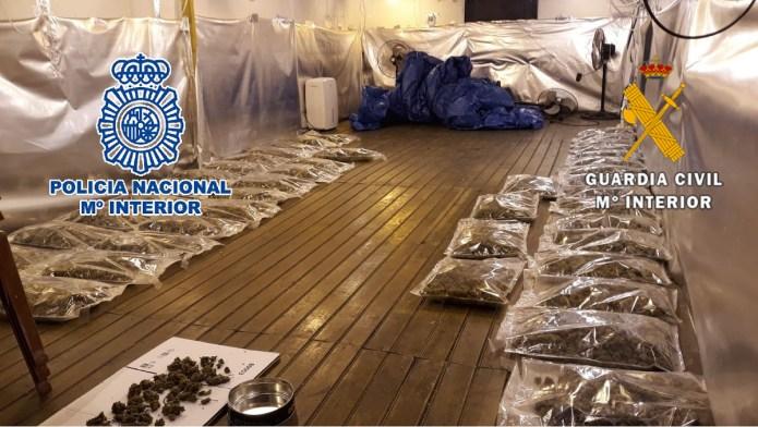 Desarticulado un grupo dedicado al cultivo, distribución y venta de marihuana en Alhaurín el Grande