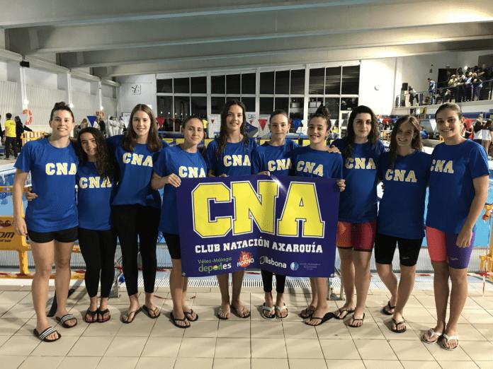 El Club Natación Axarquía consigue la permanencia en la Copa de Andalucía de clubes de primera división femenina