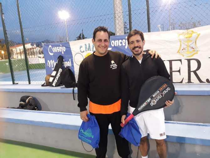 José Navarta y Francisco Carmona, vencedores del Torneo de Tenis en Nerja