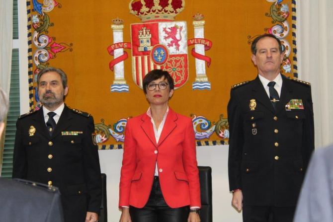 En un acto presidido por la subdelegada del Gobierno en Málaga, María Gámez Gámez, y el jefe superior de Policía de Andalucía Oriental, Jesús Redondo Sanz.