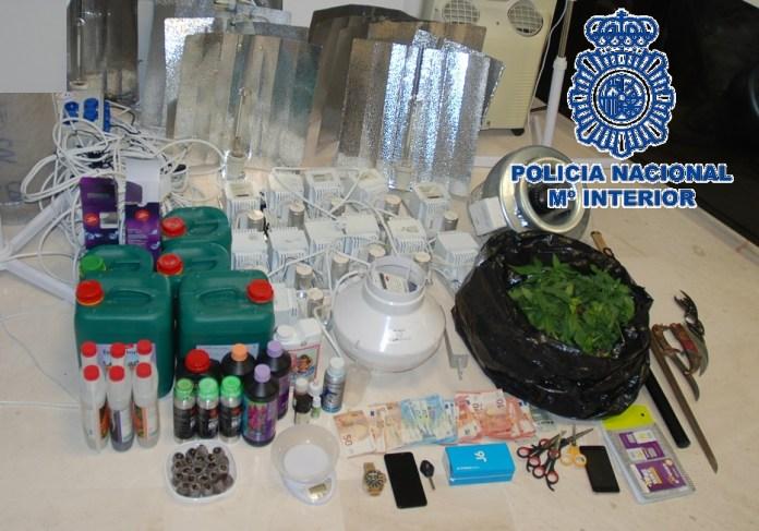 La Policía Nacional desarticula en Archidona una organización criminal dedicada al tráfico de estupefacientes y detiene a ocho de sus integrantes