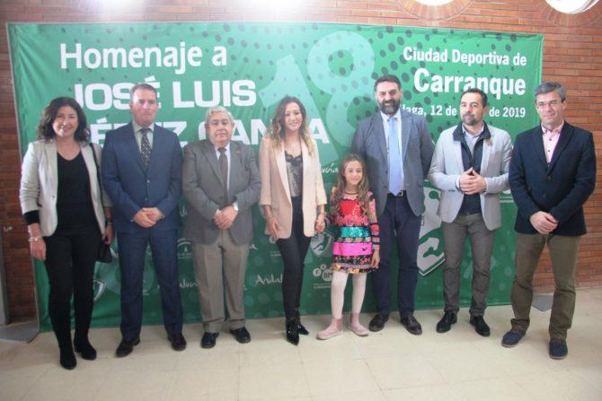 El Pabellón Nuevo de la Ciudad Deportiva de Carranque en Málaga pasa a denominarse Pabellón José Luis Pérez Canca