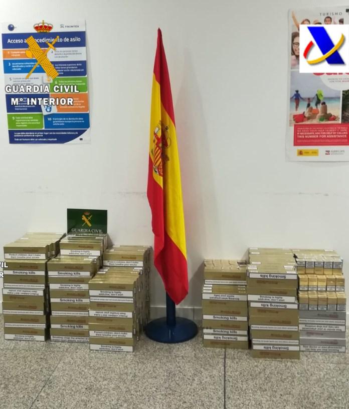 La Guardia Civil incauta 3018 cajetillas de tabaco de contrabando en el aeropuerto de Málaga