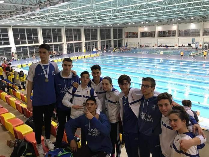 El CNA suma tres medallas en la primera jornada del Campeonato de Andalucía Infantil de Natación