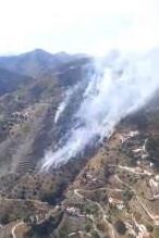 Declarado un incendio en una zona rural de Torrox