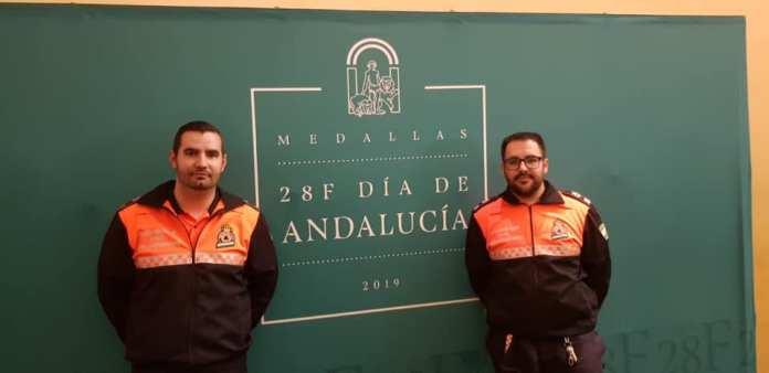 Protección Civil de la Axarquía, presente en la Mención Honorífica del Día de Andalucía 2019