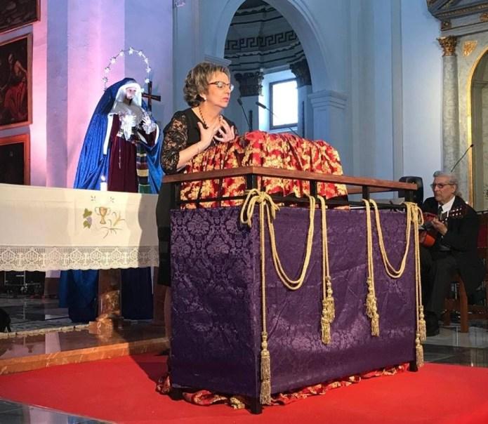 Emotivo Pregón de la artista Luisa Chicano a la Semana Santa de Vèlez-Màlaga