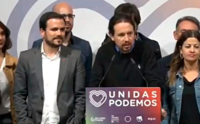 Pablo Iglesias anuncia que van a trabajar para formar un gobierno de coalición de izquierdas